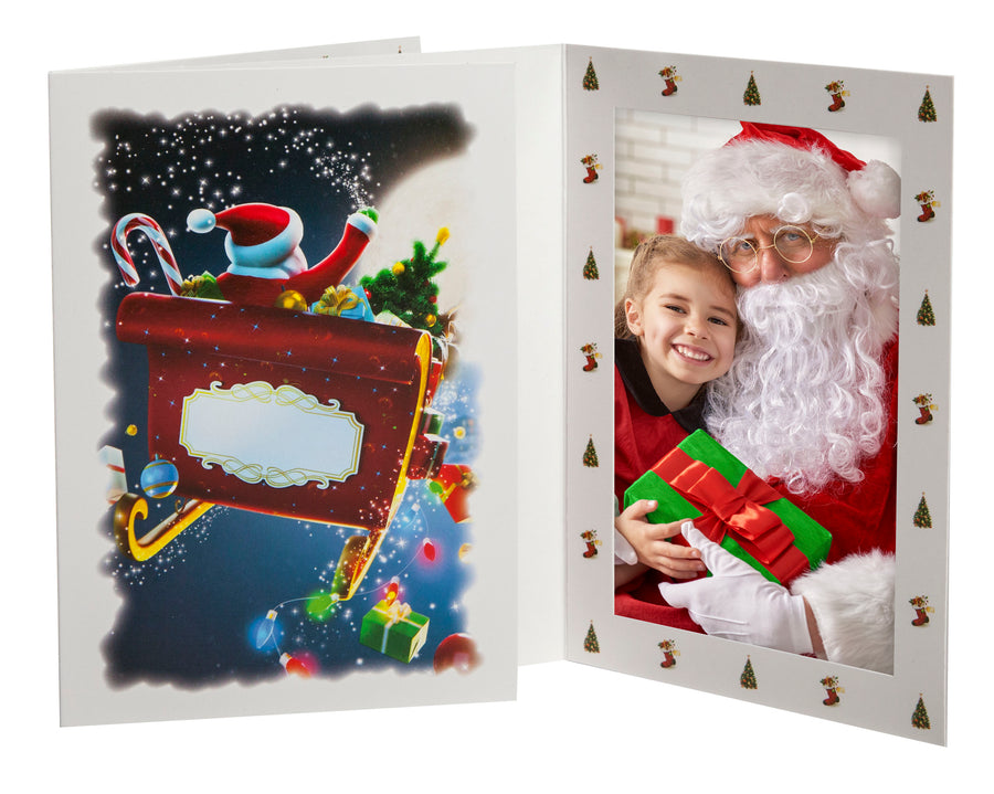 Santa Sleigh Photo Folder (Retail-Ready)
