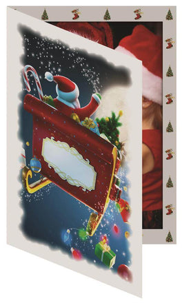 Santa Sleigh Photo Folder