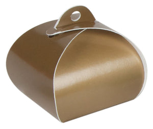 Angled view of the gold pearl single truffle tote