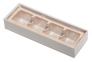 4pc Truffle Slide with Clear Lid