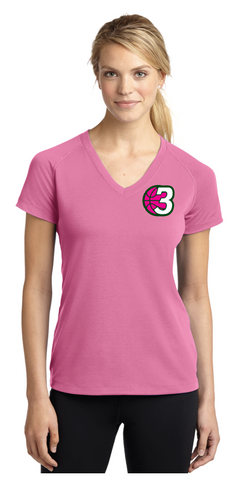 3Ball - Ladies 3B Left Chest Print - On Demand Item...takes a few days