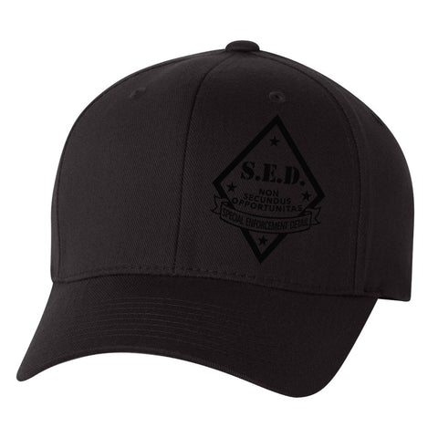 SLO County S.E.D. - Blacked-Out FlexFit Hat