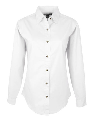 CP NRES23 - Ladies' Twill Button Down Long Sleeve Shirt