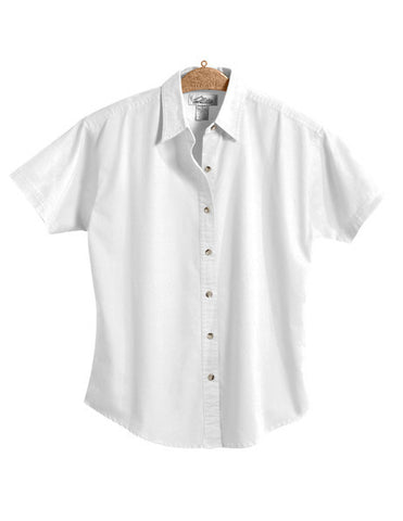 CP NRES24 - Ladies' Twill Button Down Short Sleeve