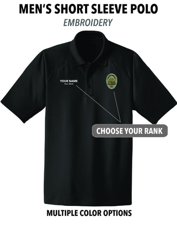 Atascadero Police - Men's Embroidered Short Sleeve Polo