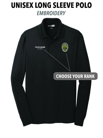 Atascadero Police - Unisex Embroidered Long Sleeve Polo
