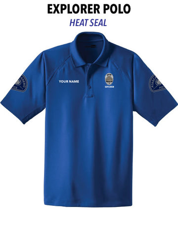 Atascadero Police - (Heat Seal) Short Sleeve Polo -EXPLORER-