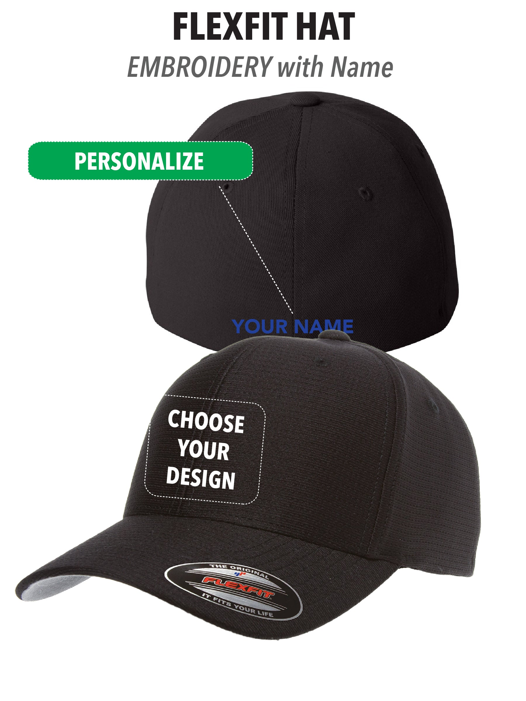 competitive price 04341 72097 Atascadero Police - FlexFit Hat - PERSONALIZE