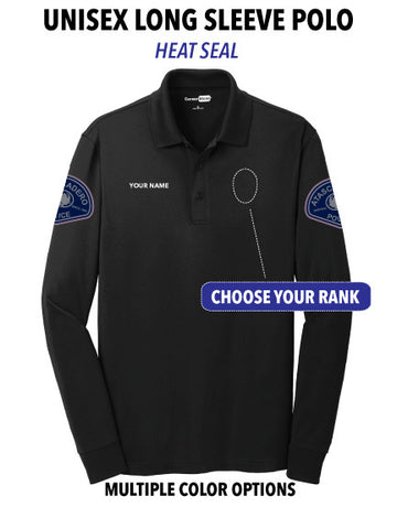 Atascadero Police - Unisex (Heat Seal) Long Sleeve Polo