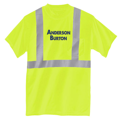 Anderson Burton - Short Sleeve Safety Shirt - ANSI 107 Class 2 Certified