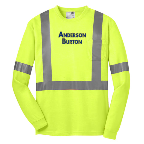 Anderson Burton - Long Sleeve Safety Shirt - ANSI 107 Class 2 Certified