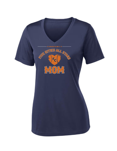 Five Cities All-Stars - Ladies Performance V-Neck (Mom Design)