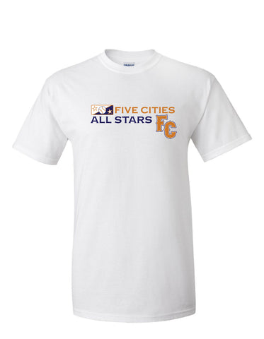 Five Cities All-Stars - Short Sleeve Cotton T-Shirt