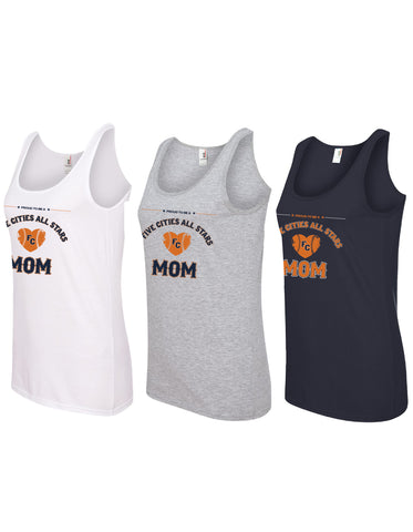 Five Cities All-Stars - Ladies Cotton Tank Top (Mom Design) - DTG