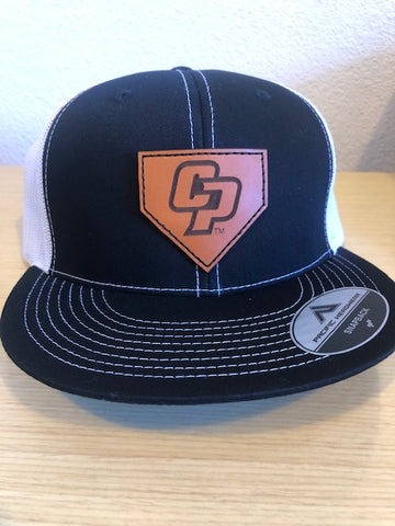 "Cal Poly ""Home Plate"" Leather Patch Hats (Only 10 of each color available)"