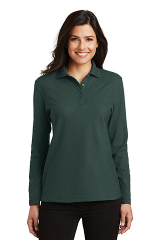 CP Student Affairs - Ladies Silk Touch Long Sleeve Polo