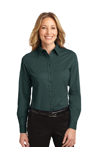 Cal Poly AFD - Ladies Long Sl. Button-Up