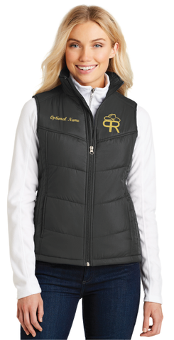 Purdue Rodeo Ladies Puffy Vest - FREE SHIPPING