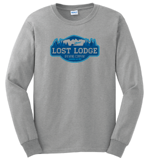 Lost Lodge Grey Long Sleeve T-Shirt