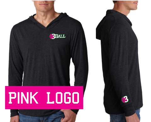 3Ball - 3B Pink Ball Light Hoodie - On Demand Item...takes a few days