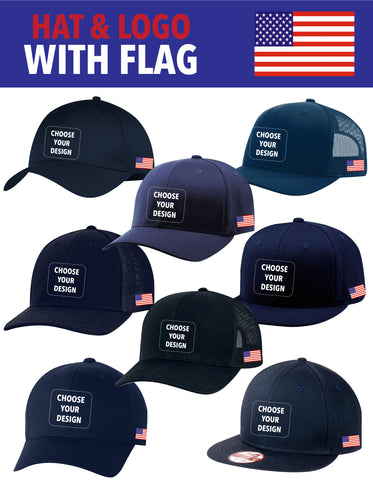 SLO Fire Department - All Hat Styles with Flag