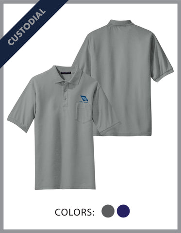 SLO Public Works - (Custodial) Men's Cotton Pique Polo W/Pocket