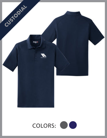 SLO Public Works - (Custodial) Mens Dry Zone Polo