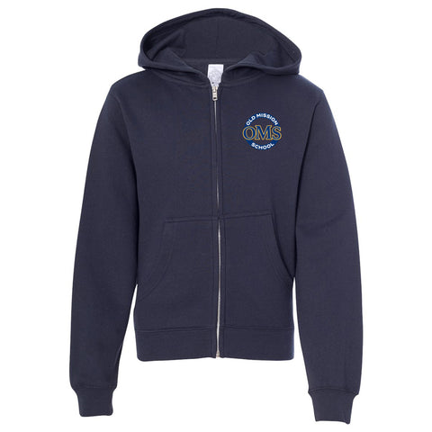OMS Approved for School - Hooded Full-Zip Sweatshirt