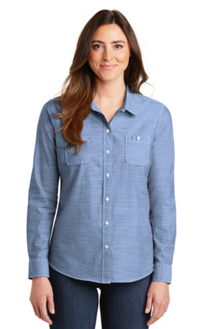 FMD29 - Port Authority Ladies Slub Chambray