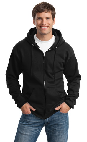 FMD36 - Port & Company® Essential Fleece Full-Zip Hooded Sweatshirt (TALL)