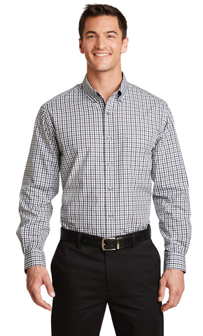 FMD23 - Port Authority® Long Sleeve Gingham Easy Care Shirt