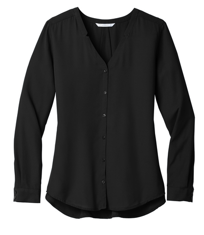 FMD27 - Port Authority ® Ladies Long Sleeve Button-Front Blouse