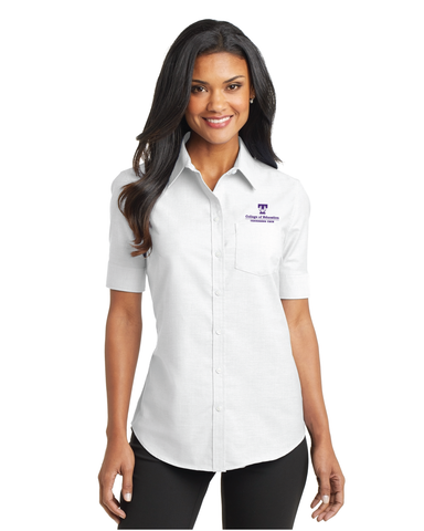 TTU - CoE Ladies Short Sleeve SuperPro Oxford Short Sleeve