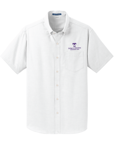 TTU - CoE Men's Short Sleeve SuperPro Oxford Short Sleeve