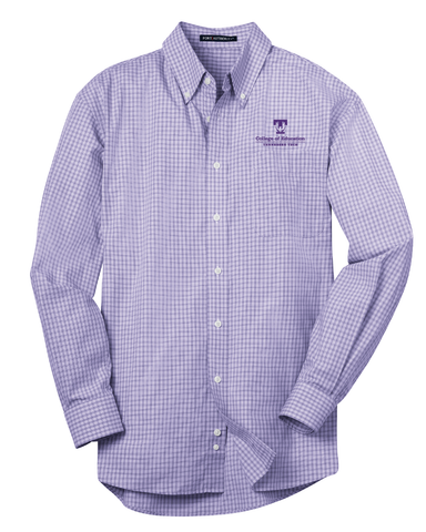 TTU - CoE Men's Plaid Pattern Easy Care Long Sleeve