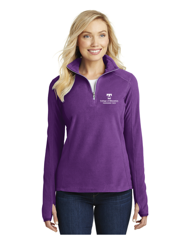 TTU - CoE Ladies Microfleece 1/4 Zip Jacket