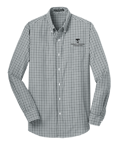 TTU - CoE Men's Gingham Easy Care Long Sleeve