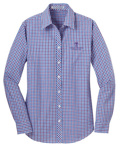 TTU - CoE Ladies Gingham Easy Care Long Sleeve