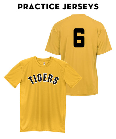 Tigers Club Baseball - Gold Practice Jersey