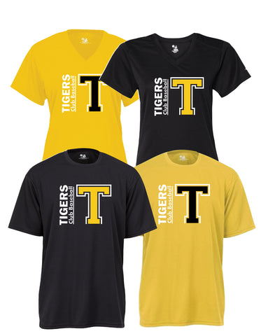 "Tigers Club Baseball - Performance Shirt - Big ""T"" Design"