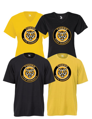 Tigers Club Baseball - Performance Shirt - Circle Tiger Design