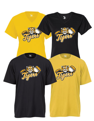 Tigers Club Baseball - Performance Shirt - Tiger Over Scripted Design