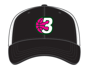 PINK - 3Ball - Trucker Hat - On Demand Item...takes a few days