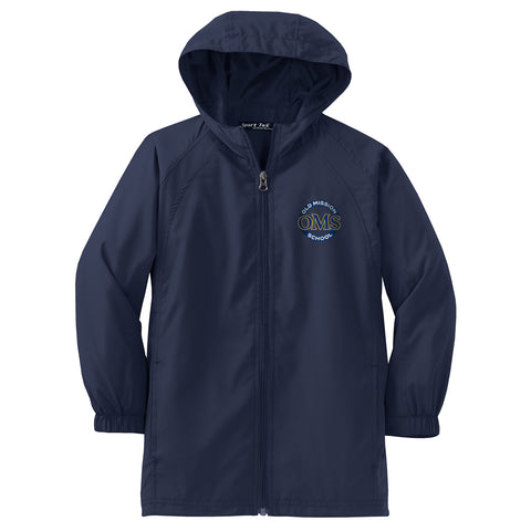OMS Approved for School - Hooded Raglan Jacket