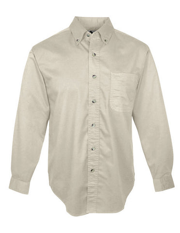 CP NRES10 - Men's Twill Button Down Long Sleeve