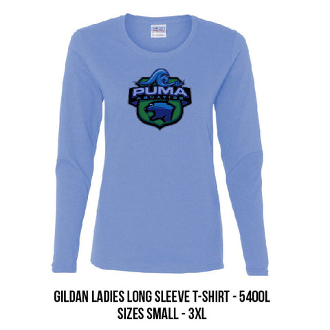 Puma Aquatics - Ladies Long-Sleeve Crest T-Shirt