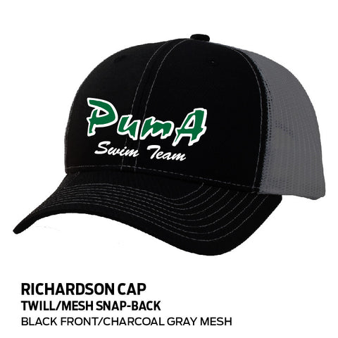 "Puma Aquatics - ""Swim Team"" Twill/Mesh Snapback Hat"