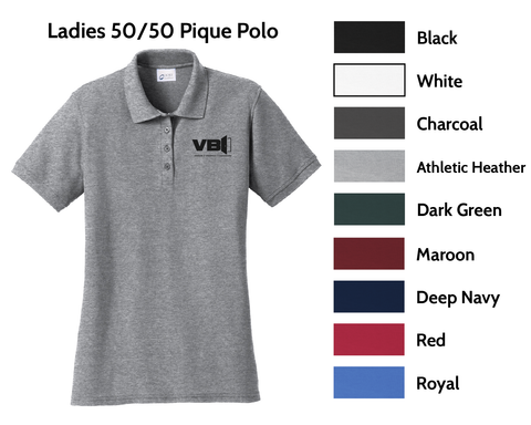 VBI Doors - Ladies 50/50 Pique Polo