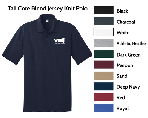 VBI Doors - Core Blend Jersey Knit Polo (Tall Available in some sizes)