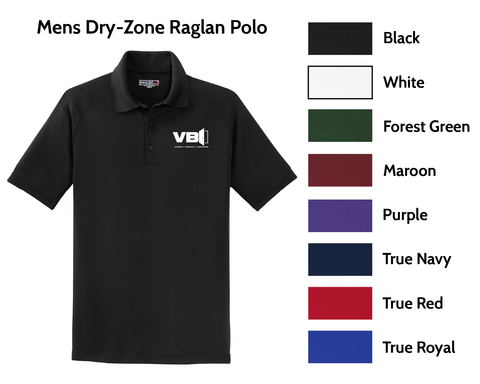 VBI Doors - Mens Dry-Zone Raglan Polo